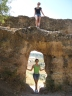 Maya y yo en el cañón de Ronda. LINDAS.