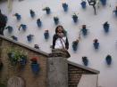 En un jardín cordobesa tradicional.