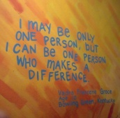 Puede ser que soy yo sólo una persona, pero puedo ser una persona que haga un cambio.